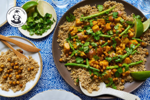 zoete aardappelcurry met quinoa