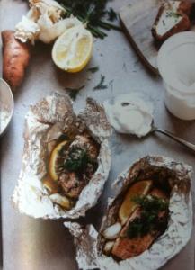 Zalm pakketje met citroen vis recept