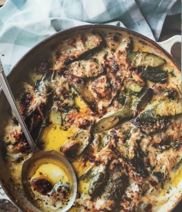 courgette knoflook-gratin