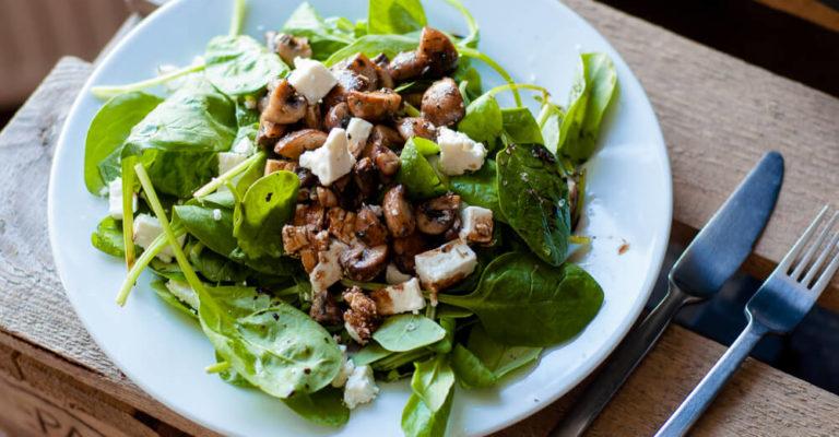 Veldsla champignon salade 01