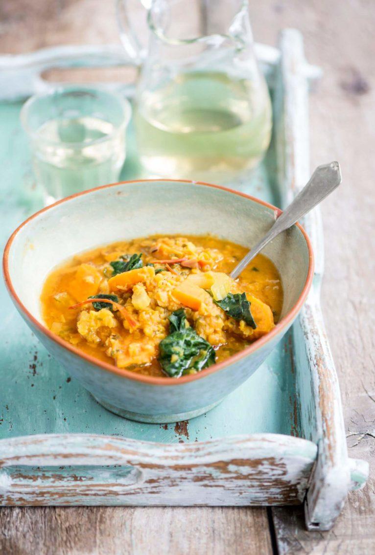 Rode linzen soep