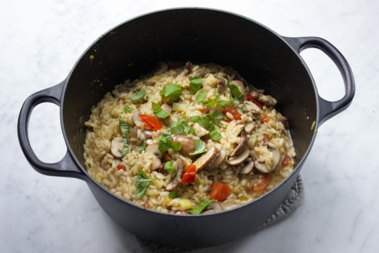 recept vegan risotto