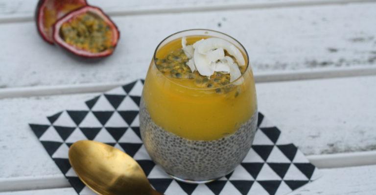 recept go with the glow exotisch chia ontbijtje